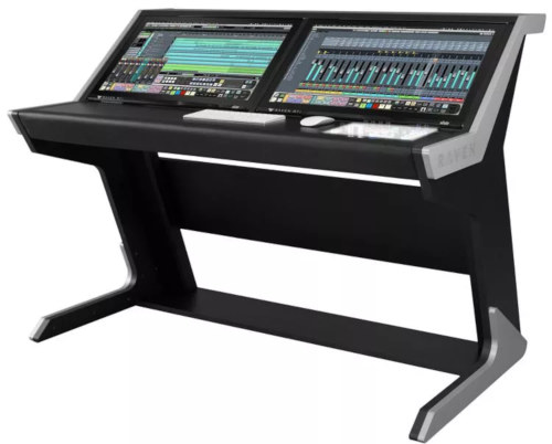 Computer Desk with Recessed Monitor