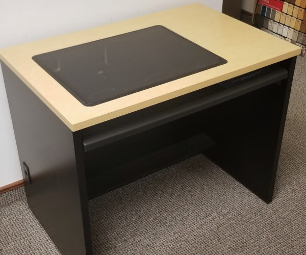 New 2019 Computer Desk With Recessed Monitor Computer