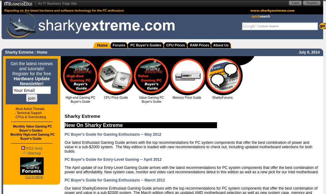 sharkyextreme.com screenshot from July 6, 2014
